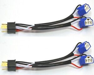 Splitter Wire Ceramic A 9003 HB2 H4 Two Harness Fog Light Adapter Replace Plug