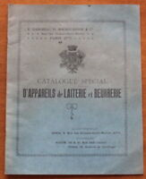 1910 ✤ Catalogue d'Appareils de Laiterie & Beurrerie ✤ Illustré