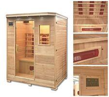 HOME DELUXE Infrarotkabine Wärmekabine Infrarotsauna Sauna Infrarot Massivholz