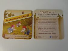 Beer Coaster ~*~ Summon LA CHOUFFE ~ Cheers, and Happy Gnome Spotting! ~ BELGIUM