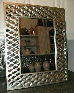 GOLD / SILVER MIRROR Framed Wall Hanging CONTEMPORAY Home Dining Foyer Bedrm