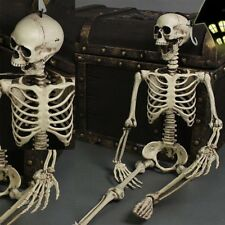 Halloween Giant Life Size Poseable Skeleton Perfect Decoration For Parties