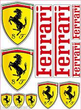 11 Stickers - Autocollants Ferrari