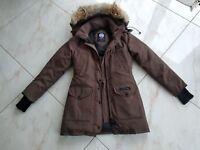 Canada Goose Down Parka Coat Jacket women  XS/TP size Brown