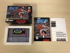 Head-On Soccer Complete Super Nintendo SNES CIB Game Original Headon Soccer