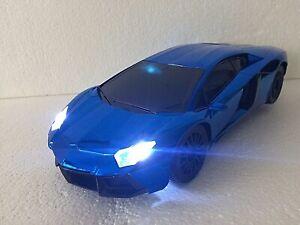SUPER FAST RADIO REMOTE CONTROL 1:16 SHINY BLUE COLOUR LED FAST DRIFTING CAR