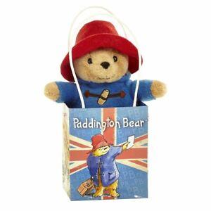 "Classic Plush Paddington Bear in Union Jack Souvenir Gift Bag - 6"" Soft Toy"
