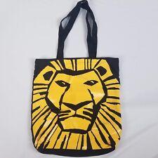 Lion King Tote Bag Broadway Musical 12 x 13 Black Yellow