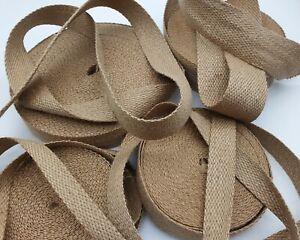 Hessian Upholstery Jute Tape Woven Stripe Trim Rustic Shabby Chic webbing strap