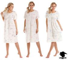 Pijamas y batas de mujer camisón de poliéster de color principal azul