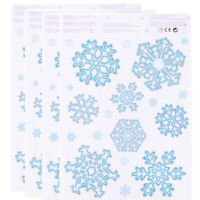 78pcs Glitter Christmas Window Decorations Stickers Snowflake Door Cling Decal