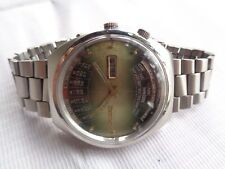 USED VTG SS GREEN DIAL ORIENT CALENDAR Y469672-4A GENTS AUTOMATIC WRISTWATCH
