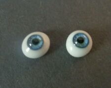 DOLL EYES - GLASS FLAT OVAL - 6MM - BLUE