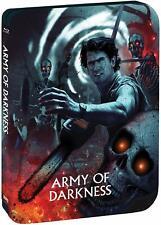 Army of Darkness - Steelbook [Blu-ray] Evil Dead Ash Williams Raimi Rare Limited