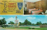 Perry Georgia~Thrift Courts of America~Interior~Map~Scots Bagpipe Sign~1960s