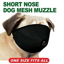 Proguard Short Nose Dog Mesh Muzzle For Pugs and Flat Faced Dogs