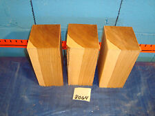 """#8064  3, hickory turning blanks L8"""" W 4 1/2"""" T3 1/2"""""""