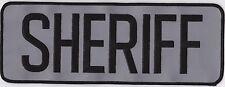 SHERIFF back patch, REFLECTIVE  - 11 x 4