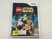 Mint Disc Nintendo Wii Lego Star Wars The Complete Saga Wii U Free Postage