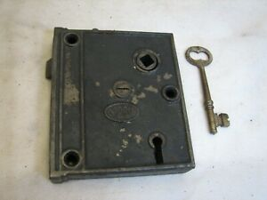 Early Corbin Cast Iron Mortise Entry Door Lock Architectural Hardware Bolt