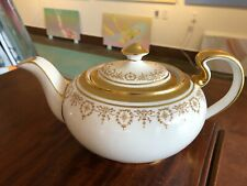 AYNSLEY GOLDEN DOWERY #7892 TEAPOT GOLD TRIM LOVELY