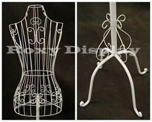 Female Metal Wire Form with Antique Metal Base #TY-XY2302W
