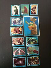 Vintage 1982 E.T. The Extraterrestrial 11 Cards 1 Large Sticker 1 Note Pad