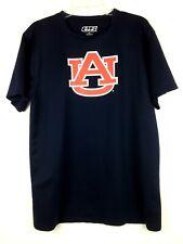 Auburn University Tigers Men's T Shirt by e5 Polyester SS Blue/Orange Sz XL