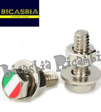 6657 - VITE ESAGONALE CON BANDIERA ITALIA PER CORNICE TARGA VESPA 50 125 150 180