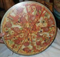 """Vintage Springbok Circular Jigsaw Puzzle Pizza 20.25"""" wide"""