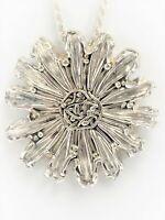 VNTG 925S Zuni Joe Eustace Modernist Brutalist Abstract Flower Sun Necklace RARE