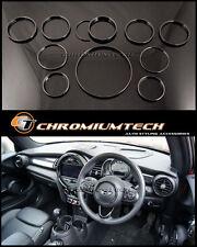 MINI Cooper/S/ONE F55 F56 F57 BLACK Interior Rings Kit for model w/Navigation XL