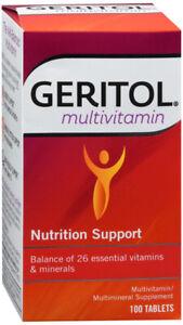 GERITOL TABLET 100CT    multivit-min36/iron/folic acid ORAL TABLET 16-0.38 MG