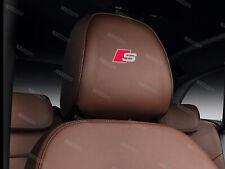 6 x Audi S-line Aufkleber für Kopfstütze A1 A3 A4 A5 A6 A7 Q5 Q7 Emblem Logo A