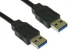 3m USB 3.0 A to A Cable Male A Plugs Superfast for HardDisk Drive HDD etc BLACK