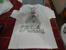 Girls Simplicity Color on T-Shirt size S-Princesses