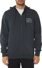 O'NEILL Men's Zip Up Hoodie CHALKED - BLK - Large - NWT