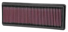 K&N KN33-2487 COTTON WASHABLE REPLACEMENT PANEL AIR FILTER FIAT ABARTH 1.4T