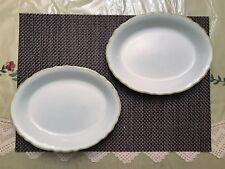 "PAIR of Oval Serving Plates 9 5/8""  Sterling China, Ohio, Restaurant Ware"