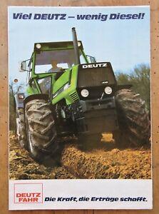 """orig. Prospekt Deutz DX Traktor Schlepper """" Viel Deutz-wenig Diesel! """""""
