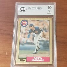 1989 Topps Traded Greg Maddux #70T Rookie RC BCCG 10 Mint Cubs Braves