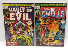 #3 Vault of Evil, #5 Chamber Chills 1970s Comic Book Lot of 2- G/Vg(Cbset-360)