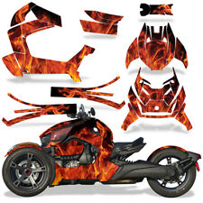 Full Body Wrap Graphic Decal for Can-Am Ryker 2019 Roadster - Natural Flames