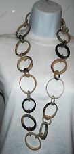 necklace monies tribal massive runway natural horn long geometric circles