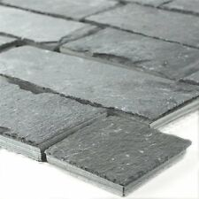 Mosaic Tiles Slate Brick Black Jack