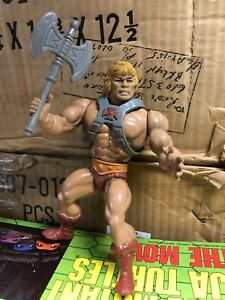 MOTU vintage Heman Series Heman figure Great Shape with Axe and armor NICE