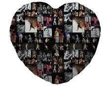 Colour Freddie Mercury Fan Montage Design Heart Shaped Cushion Valentines Day
