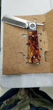 GERBER G1696 JUKEBOX LINERLOCK TORTOISE SHELL 7CR17MOV STEEL FOLDING KNIFE.