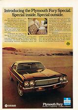1973 Plymouth Fury Special III -  Original Car Advertisement Print Ad J149