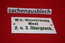 WC Waschräume West  Kleines& feines Schriftschild !2